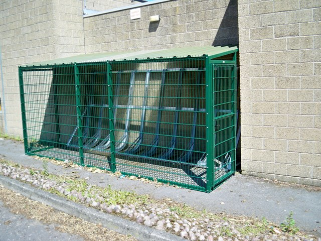High Security Shelter : Honley high school cycle shelter